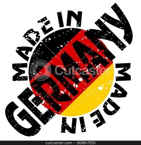 Made in Germany stock vector clipart, vector label Made in Germany by Oleksandr Kovalenko