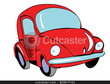 Red Volkswagen Beetle stock photo, Red Volkswagen Beetle by Haider Azim