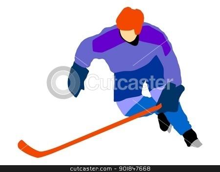 Ice hockey stock vector clipart, Kind of sport series of illustration. Ice hockey by Oleksandr Kovalenko