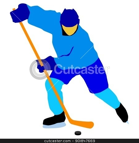 Ice hockey stock vector clipart, Kind of sport series of illustration. Ice hockey by Oleksandr Kovalenko