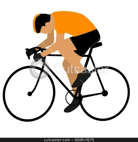 Cycling stock vector clipart, Kind of sport series of illustration. Cycling by Oleksandr Kovalenko