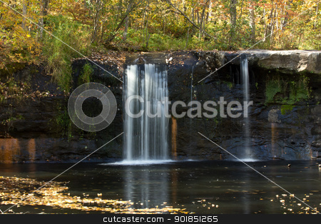 Wolf Creek Falls stock photo, Wolf Creek Falls in Autumn, late in the afternoon. by Ken Wolter