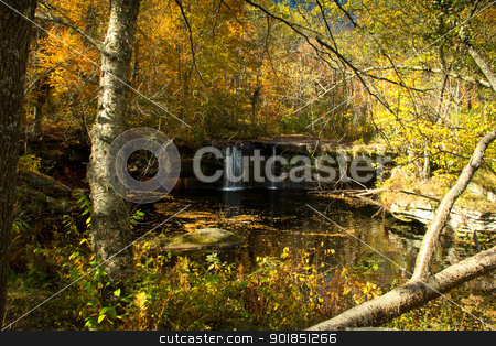 Wolf Creek Falls stock photo, Wolf Creek falls at Banning State Park, Minnesota by Ken Wolter