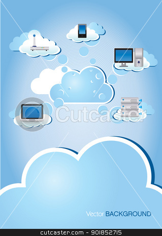 Cloud Computing stock vector clipart, This image is a vector illustration and can be scaled to any size without loss of resolution. This image will download as a .eps file and can be edited with any vector editing software. by Bagiuiani Kostas