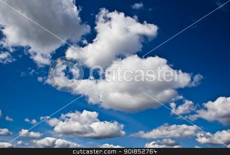 The sky stock photo, Blue sky with white clouds by Alexey Popov