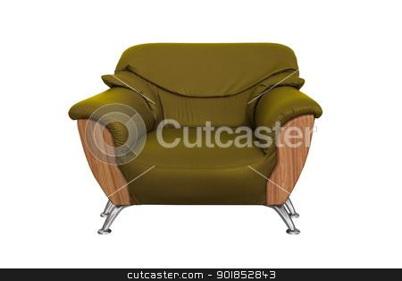 Modern green  sofa  stock photo, Modern green  sofa isolated on white background by stoonn