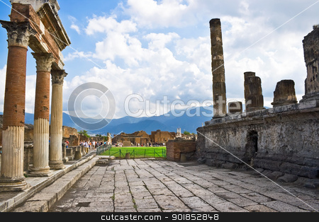 Ancient Pompeii stock photo, Ancient ruins of an old roman city Pompeii, Italy by Alexey Popov