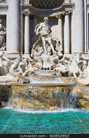 Trevi Fountain stock photo, Beautiful sightseeing Trevi fountain in Rome, Italy by Alexey Popov