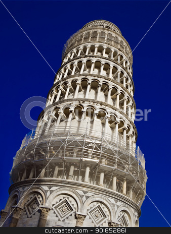 Tower of Pisa stock photo, Famous Leaning Tower of Pisa, Italy by Alexey Popov