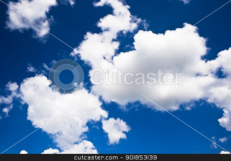 Sky and clouds stock photo, Beautiful clouds in the sky by Alexey Popov