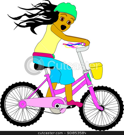Riding A Bike Stock Vector