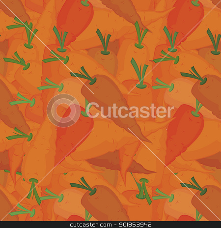 Orange carrots seamless pattern stock vector clipart, Orange carrots seamless pattern vector illustration  by Zebra-Finch
