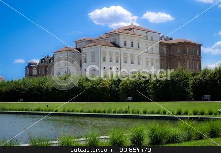 Reggia di Venaria Reale near Turin, Italy stock photo, Italy - park, pond and palace in Reggia di Venaria by Stefano Cavoretto