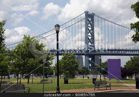 Benjamin Franklin Bridge stock photo, The Benjamin Franklin Bridge in Philadelphia by Abdul Sami Haqqani