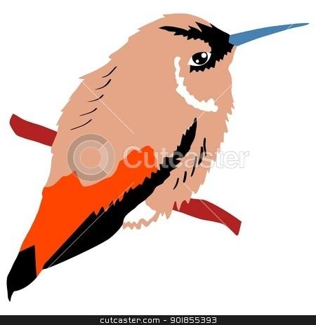 Illustration of hummingbird stock vector clipart, Illustration of hummingbird by Oleksandr Kovalenko
