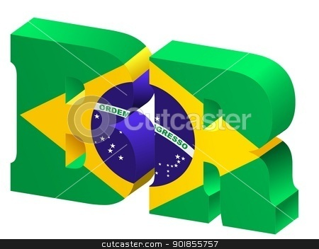 Internet top-level domain of Brazil stock vector clipart, Internet top-level domain of Brazil by Oleksandr Kovalenko