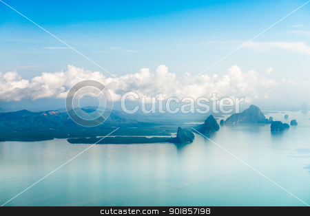 Aerial view of the tropical islands  stock photo, Aerial view of the tropical islands in blue water of Andaman sea by Iryna Rasko