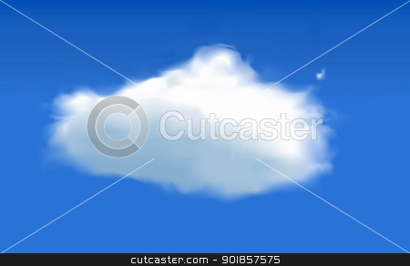 Cloud stock vector clipart, Vector cloud in sky - created using mesh tool by Fenton