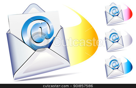 @ email arriving with a whoosh stock vector clipart, email sent and arriving by Fenton