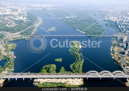 Kyiv city - aerial view. stock photo, Kyiv capital city of Ukraine. Aerial view. by Oleksiy Fedorov