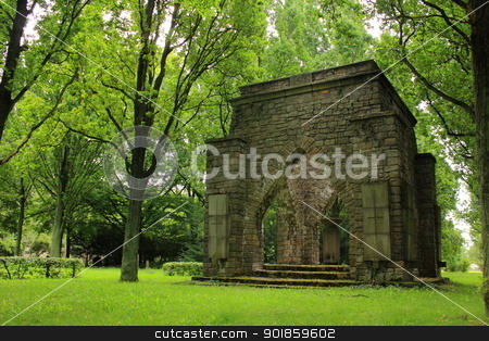 Military cemetery stock photo, Monument at German military cemetery in Goerlitz, Germany by Oxygen64