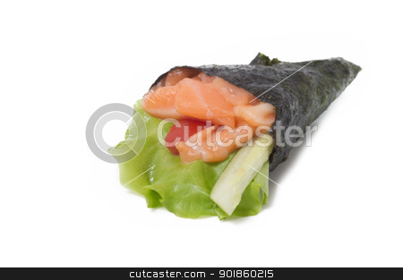 Various kinds of sushi and sashimi stock photo, Various kinds of sushi and sashimi. Isolated. by Evgeniy Ovchinnikov