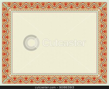 certificate background stock vector