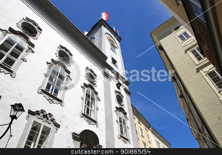 Historic Architecture in Salzburg stock photo, Historic Architecture in the city of Salzburg, Austria, Europe. by Michael Osterrieder