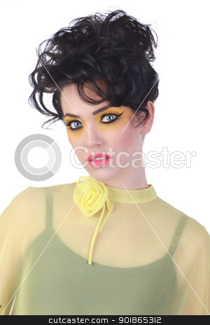High Fashion Woman With Piercing Eyes stock photo, Stunning High Fashion Woman With Piercing Eyes by Katrina Brown