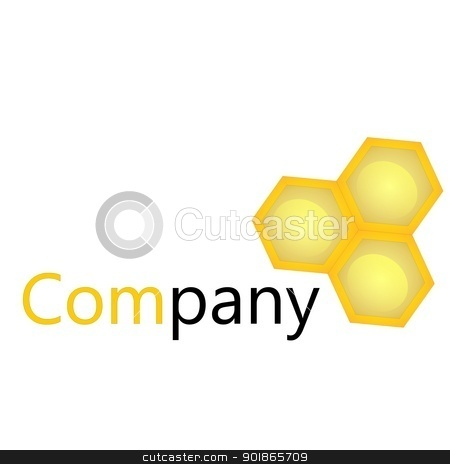Bee Logo stock vector clipart, Corporate design concept by rmrlpe