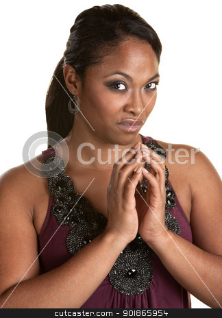 Disgusted Woman stock photo, Doubtful woman staring ahead with disgusted look by Scott Griessel