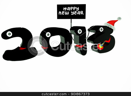 Happy new Year stock photo, Funny 2013 New Year's Eve greeting card by p.studio66