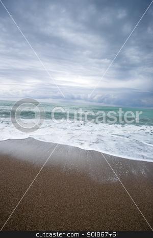 Sea. stock photo, The Mediterranean Sea, cloudy sky. Turkish seaside. aRGB. by Piotr Skubisz