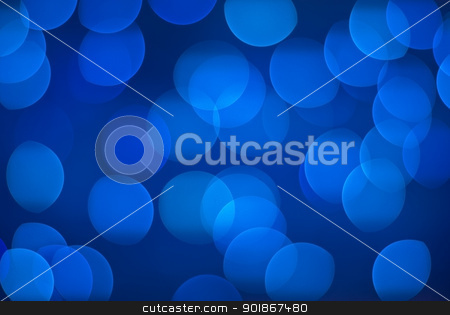 Defocus background - blue lights. stock photo, Defocused blue lights. by Piotr Skubisz