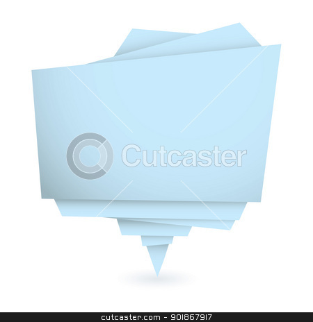 Origami blue element stock vector clipart, Origami element in blue with copy space for your text by Michael Travers