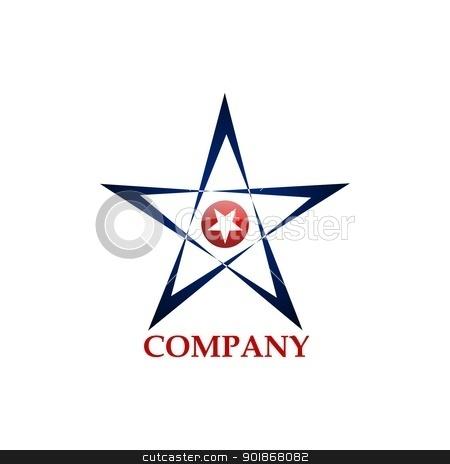 Star's Logo stock vector clipart, Corporate design concept - Star Logo by rmrlpe