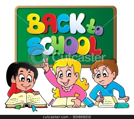 Back to school thematic image 1 stock vector clipart, Back to school thematic image 1 - vector illustration. by Klara Viskova