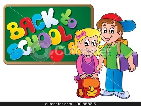 Back to school thematic image 4 stock vector clipart, Back to school thematic image 4 - vector illustration. by Klara Viskova