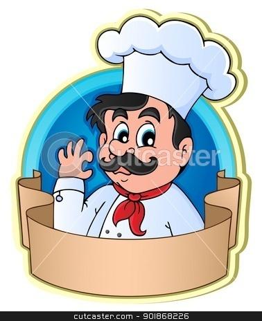 Chef theme image 3 stock vector clipart, Chef theme image 3 - vector illustration. by Klara Viskova