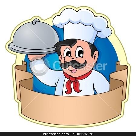 Chef theme image 5 stock vector clipart, Chef theme image 5 - vector illustration. by Klara Viskova