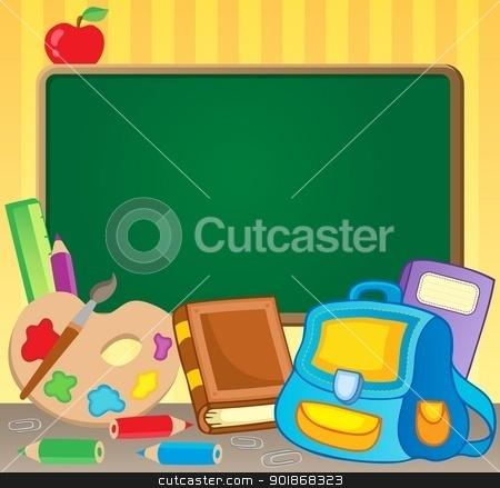 Schoolboard theme image 1 stock vector clipart, Schoolboard theme image 1 - vector illustration. by Klara Viskova
