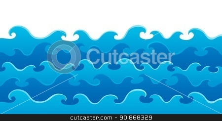 Waves theme image 5 stock vector clipart, Waves theme image 5 - vector illustration. by Klara Viskova