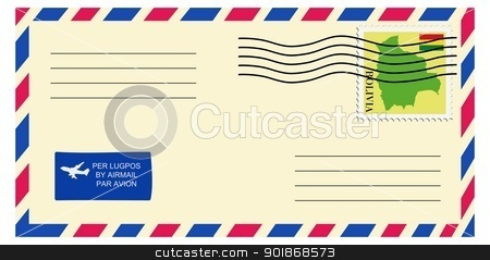 letter to/from Bolivia stock vector clipart, letter to/from Bolivia by Oleksandr Kovalenko