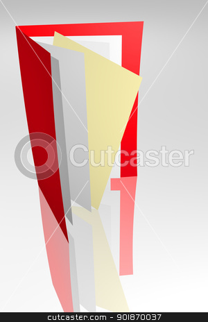 Archive stock photo, Folder with documents by genialbaron