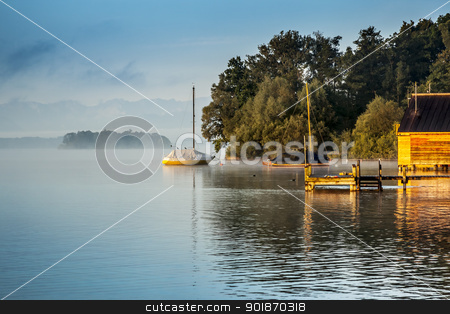 Starnberg lake stock photo, An image of a beautiful scenery at Starnberg lake by Markus Gann