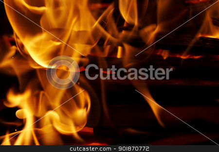 fire stock photo, Shot of the fire and flames - detail by Siloto