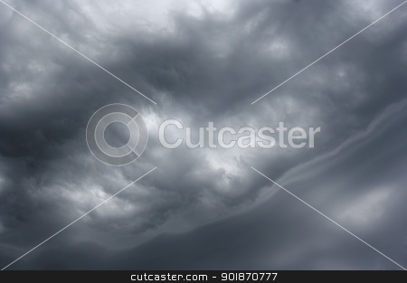 outlandish clouds before rain stock photo, Shot of the dark clouds before rain by Siloto