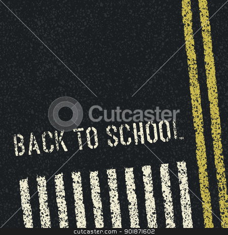 Back to school. Road safety concept. Vector, EPS8 stock vector clipart, Back to school. Road safety concept. Vector, EPS8 by pashabo