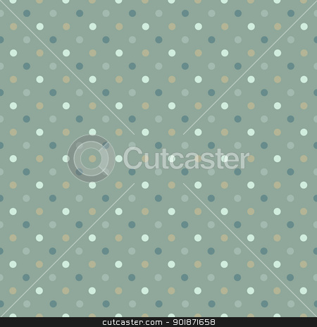 Seamless polka dot pattern in cold green gamut. Vector illustrat stock vector clipart, Seamless polka dot pattern in cold green gamut. Vector illustration, EPS8 by pashabo