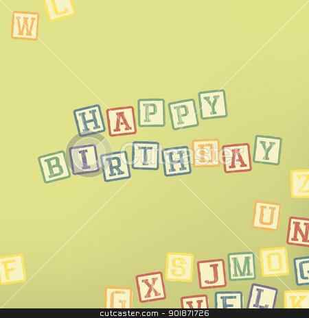 Happy birthday card stock vector clipart, Happy birthday card by pashabo